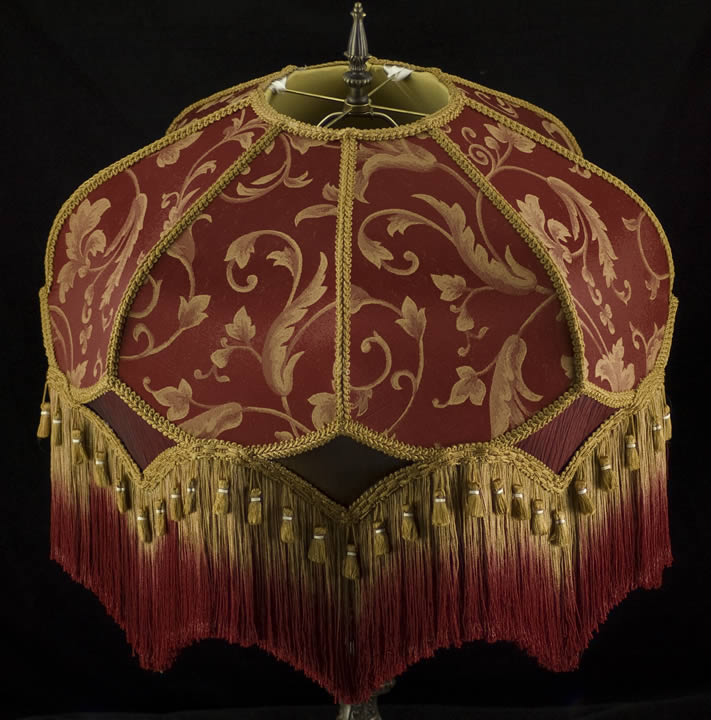 Plain Jane Shop Decorators Fringed Lampshade FT32 Photo 3